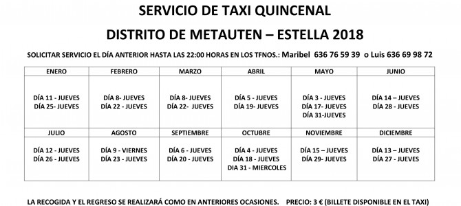 SERVICIO DE TAXI-2018